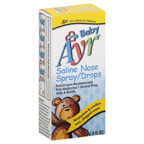 Image for Ayr Nose Spray/Drops, Saline 1 oz from Rices Pharmacy Beaver Dam