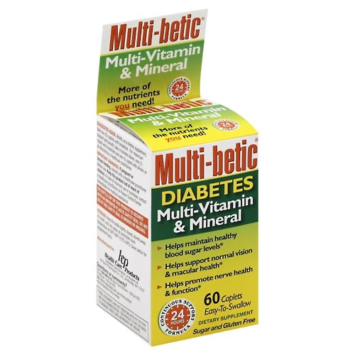 Image for Multi Betic Multi-Vitamin & Mineral, Diabetes, Caplets 60 ea from Rices Pharmacy Beaver Dam